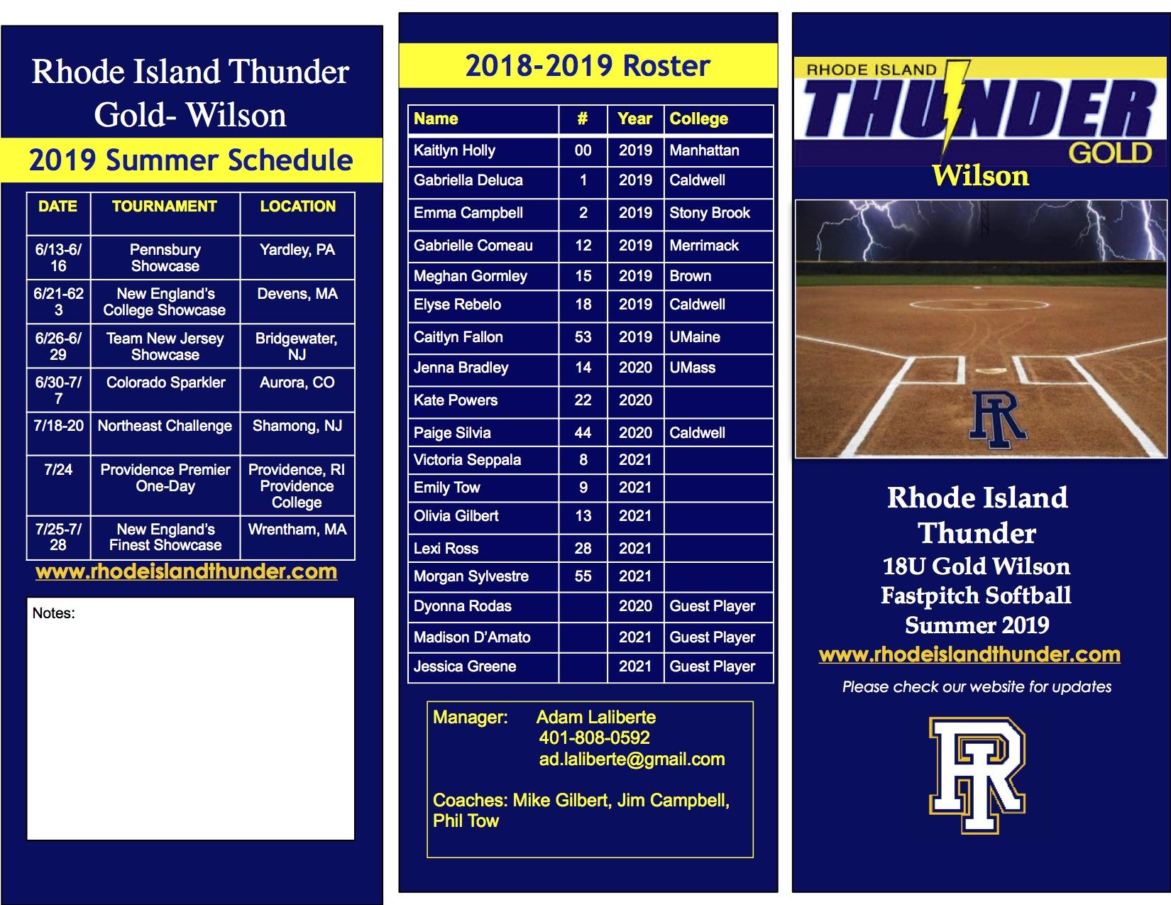 RI Thunder Gold 18U - Wilson 1