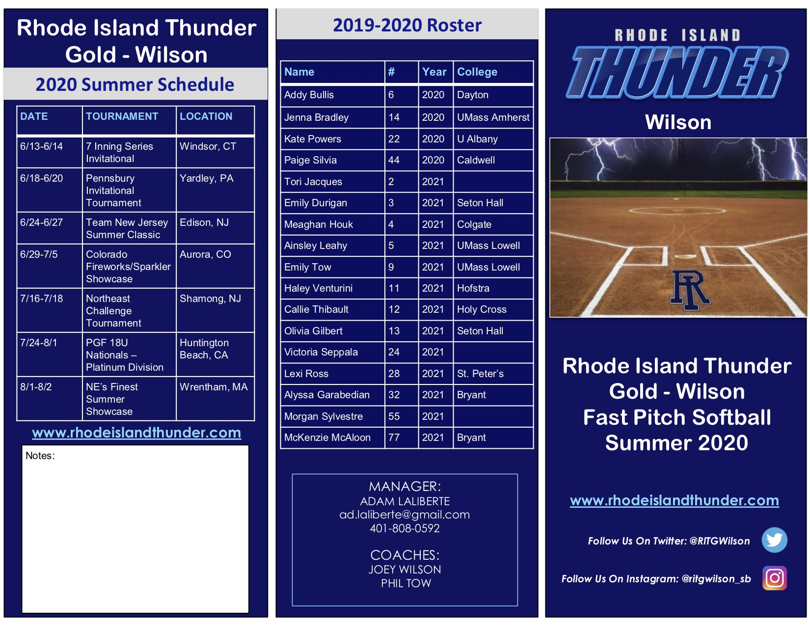 RITG Wilson Brochure - Summer 2020 1